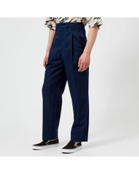Lemaire - Men's Two Pleated Trousers - Lyst