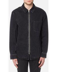 Alexander Wang - Men's Black Denim Zip Front Shirt - Lyst