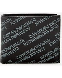 Emporio Armani - Men's Small Bifold Coin Wallet - Lyst