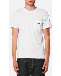 Maison Kitsuné - Men's Tricolor Fox Patch Tshirt - Lyst