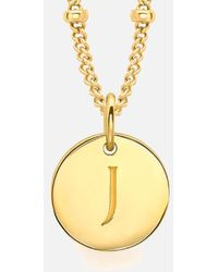 Missoma - Women's Initial Charm Necklace J - Lyst