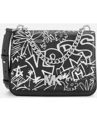 MICHAEL Michael Kors - Women's Graffiti Calia Leather Cross Body Bag - Lyst