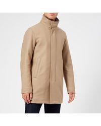 Herno - Men's Beaver Fur Collar Over Coat - Lyst