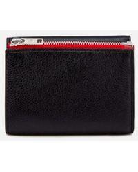 Maison Margiela - Men's Zip Detail Grained And Calf Grain Leather Wallet - Lyst