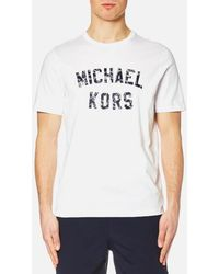 Michael Kors - Men's Varsity Text Graphic Logo Tshirt - Lyst