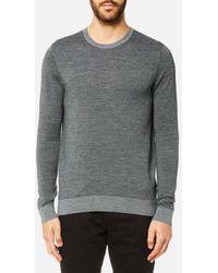 Michael Kors - Men's Houndstooth Jacquard Merino Crew Neck Sweatshirt - Lyst