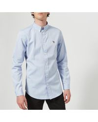 PS by Paul Smith - Men's Tailored Fit Long Sleeve Oxford Shirt - Lyst