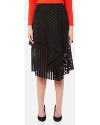 Diane von Furstenberg - Women's Front Ruffle Midi Skirt - Lyst