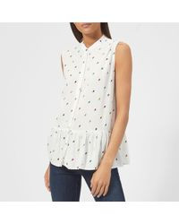 PS by Paul Smith - Women's Ice Lolly Peplum Top - Lyst