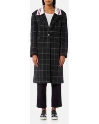 Maison Kitsuné Ribbed Thelma Masculine Coat