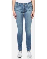 J Brand - Women's 811 Mid Rise Skinny Jeans - Lyst