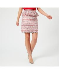 Karl Lagerfeld - Women's Captain Karl Boucle Skirt - Lyst