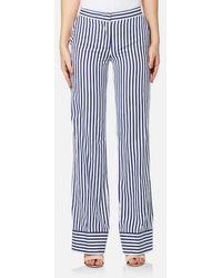 MSGM - Women's Wide Leg Striped Trousers - Lyst