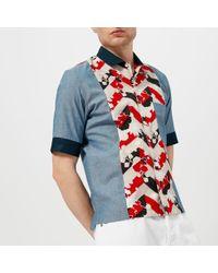 Maison Kitsuné - Men's Venice Patched Short Sleeve Shirt - Lyst