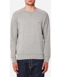 Maison Kitsuné - Men's Tricolor Fox Patch Sweatshirt - Lyst