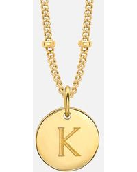 Missoma - Women's Gold 'k' Initial Necklace - Lyst