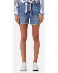 J Brand - Joan High Rise Short Jeans - Lyst
