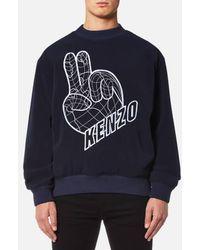 KENZO   Men's Peace Logo Sweatshirt   Lyst
