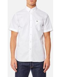 Lacoste | Short Sleeve Shirt | Lyst
