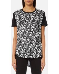 PS by Paul Smith - Women's Cat Silk Front Tshirt - Lyst