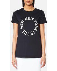DKNY - Large New Ny Logo Crew Neck T-shirt - Lyst