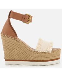 See By Chloé - Women's Canvas Wedged Sandals - Lyst