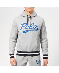 b02ef9a47 Polo Ralph Lauren Polo 1967 Print Hooded Sweatshirt in Blue for Men - Save  47% - Lyst