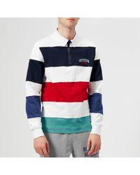 BBCICECREAM - Striped Zip Rugby Top - Lyst