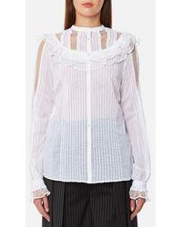McQ - Women's Pin Tuck Shirt - Lyst