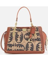 COACH Coated Canvas Signature Rexy By Guang Yu Dreamer 21 Bag