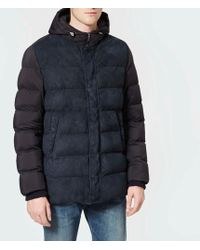 Herno - Goat Suede And Matte Nylon Down Parka - Lyst