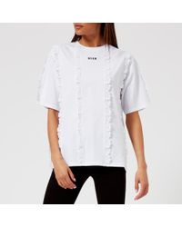 MSGM - Women's Logo Tshirt - Lyst