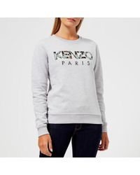 KENZO - Women's Light Cotton Molleton Logo Sweatshirt - Lyst