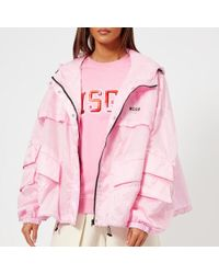 MSGM - Women's Waterproof Coat With Hood - Lyst