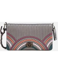 e33dce140f1b0 COACH - Dinky Bag With Colorblock Deco Quilting And Rivets - Lyst