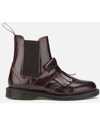 Dr. Martens - Women's Tina Arcadia Leather Kiltie Chelsea Boots - Lyst