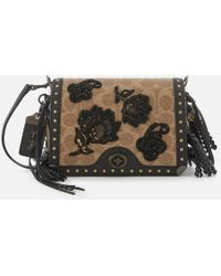 COACH - Exclusive Floral Signature Print Dinky 19 Cross Body Bag - Lyst