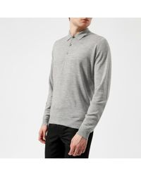 John Smedley - Men's Belper 30 Gauge Merino Long Sleeve Polo Shirt - Lyst