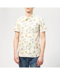 Maison Kitsuné All-over Scooter Shorts Sleeves Shirt - Multicolour