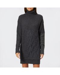 McQ - Women's Patched Cable Roll Jumper - Lyst