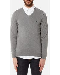 Lacoste - Men's Vneck Knitted Jumper - Lyst
