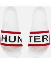 HUNTER - Women's Slide Sandals - Lyst