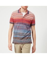 Missoni - Men's Multi Stripe Classic Polo Shirt - Lyst