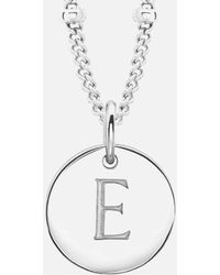 Missoma - Women's Initial Charm Necklace E - Lyst