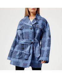 Vivienne Westwood Anglomania - Safari Checked Tie-waist Cotton Jacket - Lyst