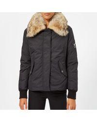 Belstaff - Women's Barnsdale Fur Trim Coat - Lyst