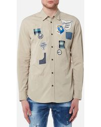 DSquared² - Scout Badges Relax Dan Fit Shirt - Lyst