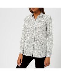 0494c94bc2 Lyst - Calvin Klein Western Denim Shirt in Black