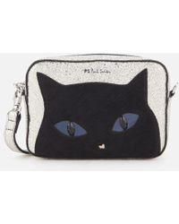 PS by Paul Smith - Women's Silver Cat Cross Body Bag - Lyst