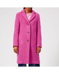 MSGM - Women's Smart Textured Coat - Lyst
